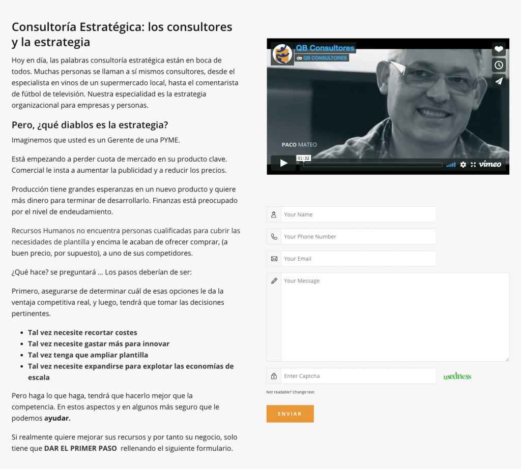 Agencia Inbound Marketing Alicante landing consultoria
