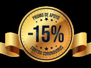 PROMO 15% Apoyo Contra Coronavirus